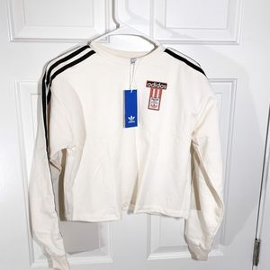 Adidas | off-white oversized fleece crewneck (nwt)